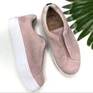 EYTYS | sz 7 pink doja suede slip on sneakers